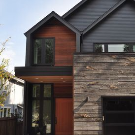 Love the textures and colour schemes in this house (especially the dark colourbond roof.