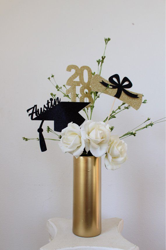 Graduation Centerpiece - Graduation Party - Graduation Party Decorations - Grade Centerpiece Sticks - Class of 2019 - 2019 Graduation Centerpiece