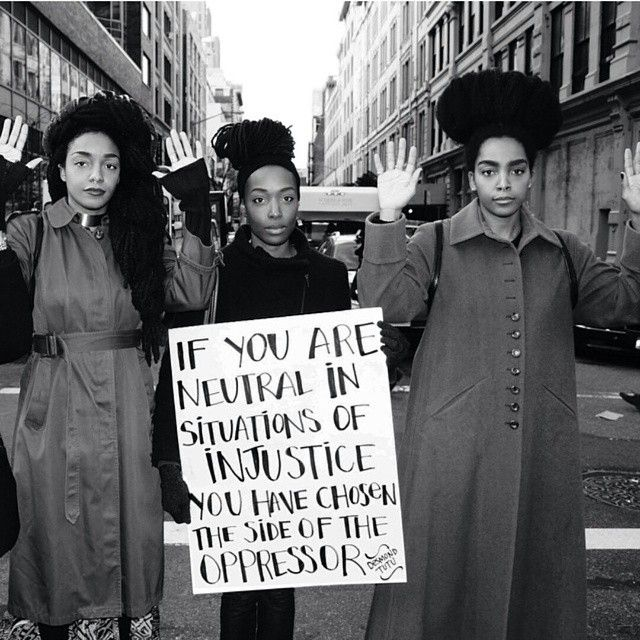 """""""If you are neutral in situations of injustice, you have chosen the side of the oppressor."""""""