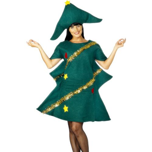 Women's Christmas Tree Fancy Dress Costume 28265 £11.99