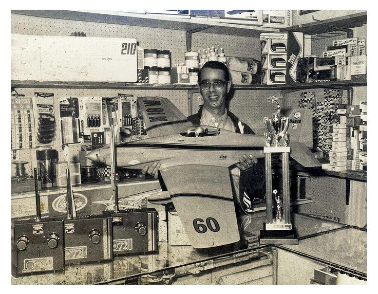 Fran's Hobby Shop, Old RC Pylon Model Airplane, Vintage 1970s Photo
