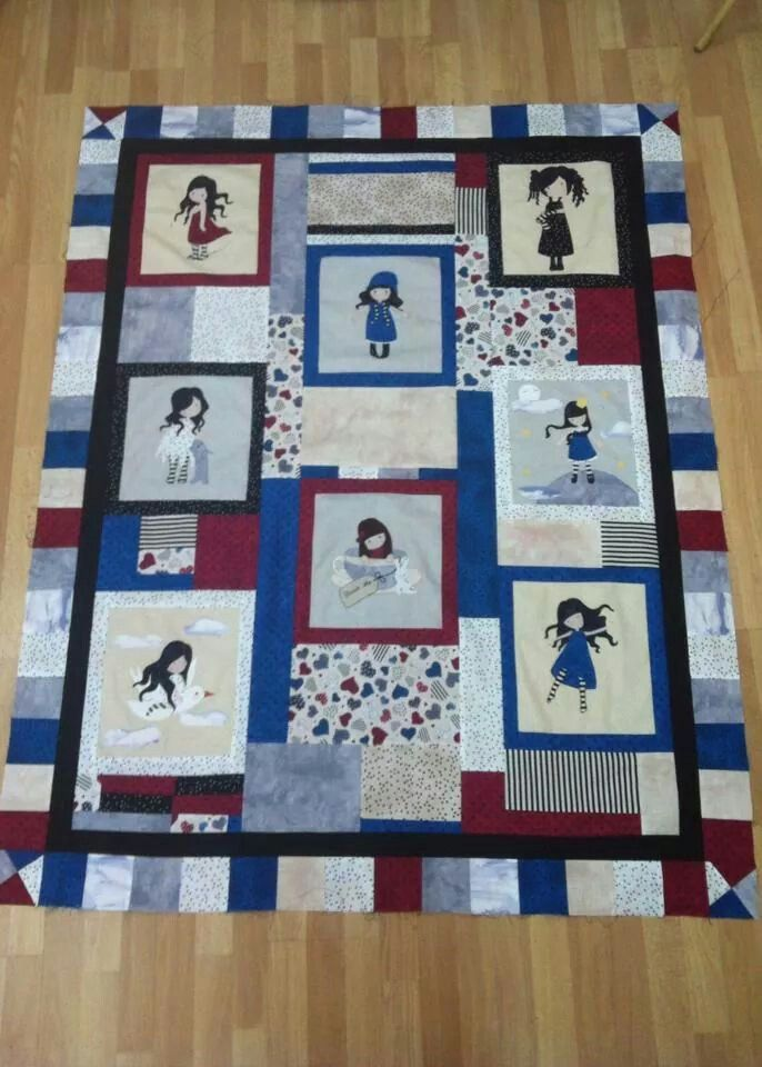 Gorjuss applique quilt
