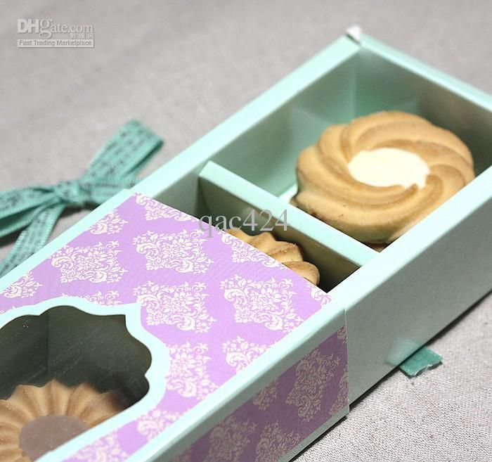 Wholesale cake box Purple drawer type window macaron box chocolate box, Free shipping, $2.05-2.15/Piece | DHgate