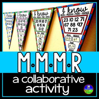 In this collaborative activity students find mean, median, mode and range given either 5, 6, 7, 8, 9, or 10 single and double-digit numbers. Some answers require rounding (answer key is to the nearest hundredth). You can see the 3rd thumbnail image for the answer key.