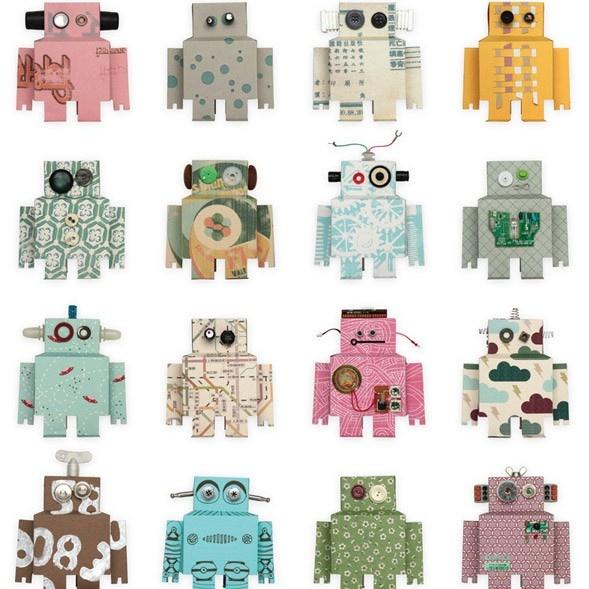 Robots Wallpaper by Studio Ditte