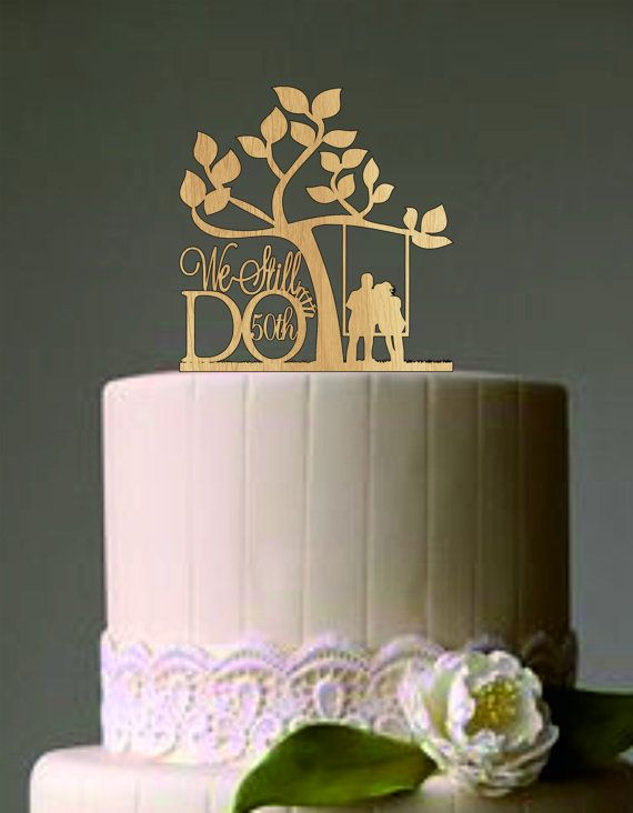 50 th Vow Renewal or Anniversary Cake Topper We Still Do Rustic Wedding cake topper WELCOME;  Thank you for visiting Shop the CAKETOPPERSSHOP Please let me know if I can answer any questions.   ***PLEASE READ THE SHOP POLICIES BEFORE ORDERING !***    ^^^^^^^^^^^^^^^^^^^^^^^^^^^^^^^^^^^^^^^^^^^^^^^^^^^^^^^^^^^^^^^^^^^^ WEDDING CAKE TOPPER DIMENSION ^^^^^^^^^^^^^^^^^^^^^^^^^^^^^^^^^^^^^^^^^^^^^^^^^^^^^^^^^^^^^^^^^^^^  Material - 4 mm natural wood - Thick Acrylic This topper is laser cut from…