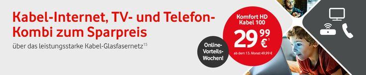 Kabel Deutschland - Internet, Telefon und TV im Kombi-Paket