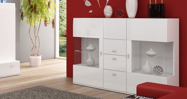 Komoda biała Flower #nowoczesnemeble #mebledosalonu #meble #minimalistycznemeble #mebleniemieckie #dom #aranzacjedom #aranzacje