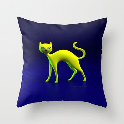 The Yellow Cat By THE-LEMON-... from society6.com on Wanelo #homedecorating