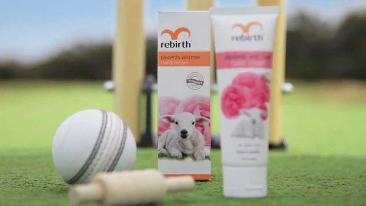 Rebirth Ads: Amazing Aussie Cricketer - Placenta Wild Rose Hand cream