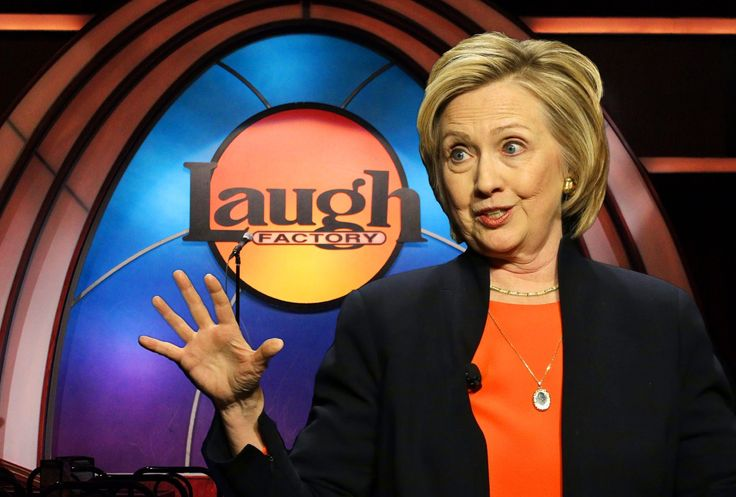 Hillary Clinton vs. the First Amendment at The Laugh Factory - She wants this video taken off YouTube and wants the names and phone numbers of the comedians who mentioned her in their acts. (11/2015)