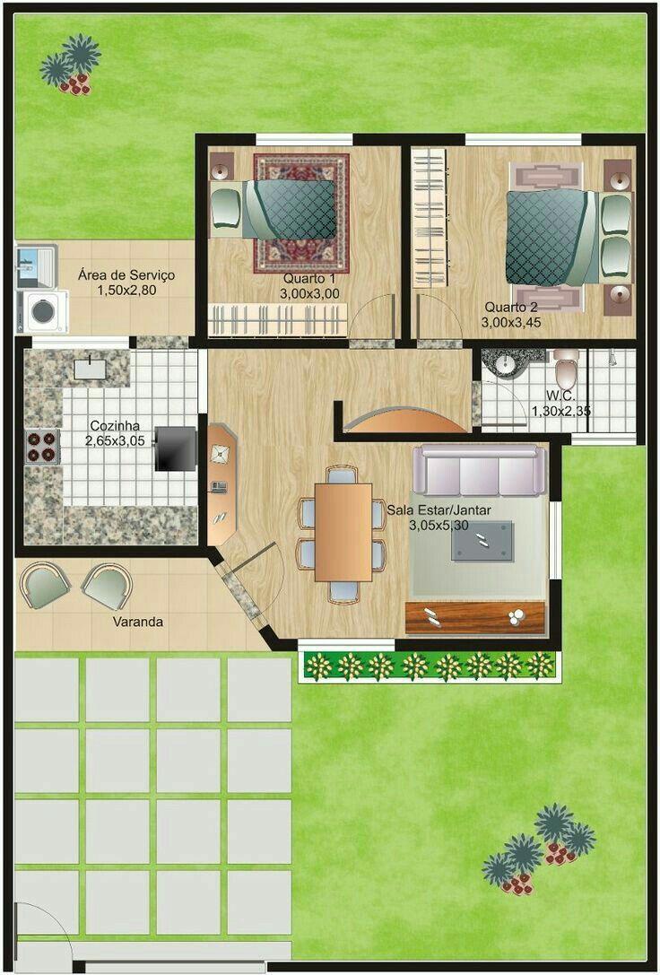 M s de 25 ideas fant sticas sobre planos de casas for Planos de viviendas economicas