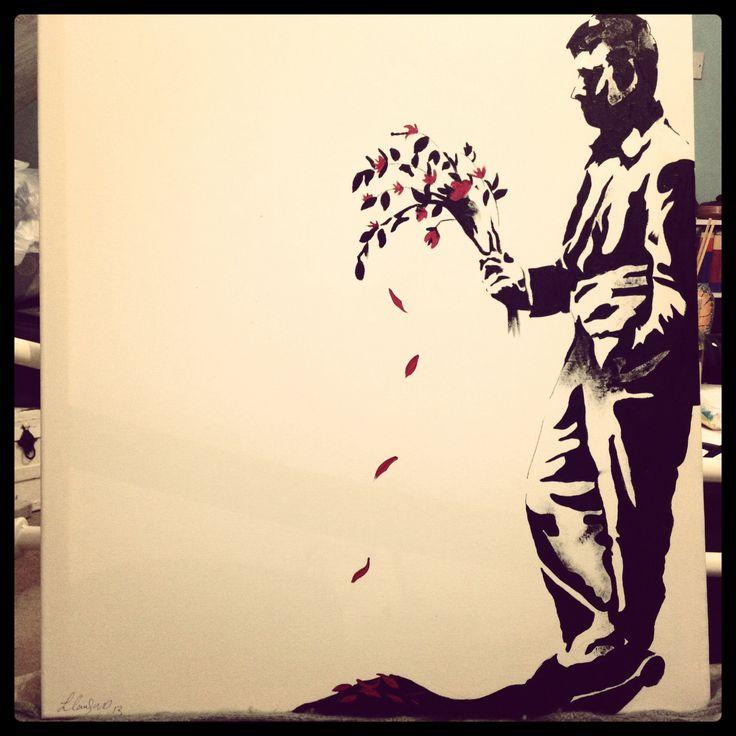 Banksy copy, waiting in vain