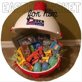 25 unique valentines baskets for him ideas on pinterest gift easter basket for him man basket fishing easter basket negle Image collections