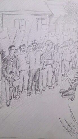 Drawing karakalem