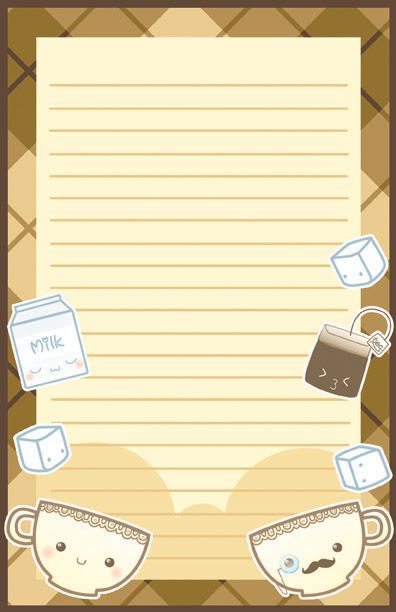 Kawaii Tea Time Stationary by ~Jellyfish-Station on deviantART