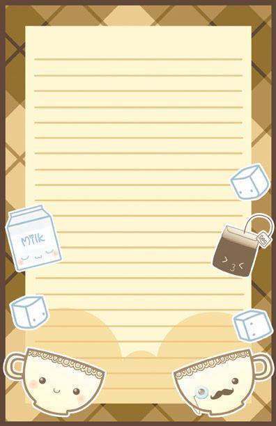 Kawaii Tea Time Stationary by ~Jellyfish-Station on deviantART