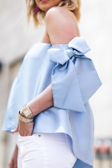 Off the shoulder bow top. Fashion blogger. Bow top.