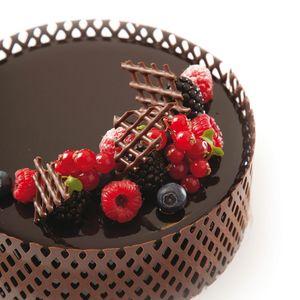 Tortenrand aus Schokolade – VERZIERUNG VON ESSEN ,deko, food decorate,