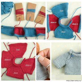 Вязание спицами свитеров для кукол. Схемы (8) (658x658, 324Kb)