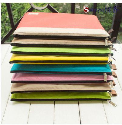 Encontrar Más Carpetas Archivadoras Información acerca de La moda coreana doble de un solo color de tela Oxford bolsa bolsa papel borde de la bolsa 340 * 240 mm archivo A4, alta calidad Carpetas Archivadoras de NNSKEY's shop en Aliexpress.com