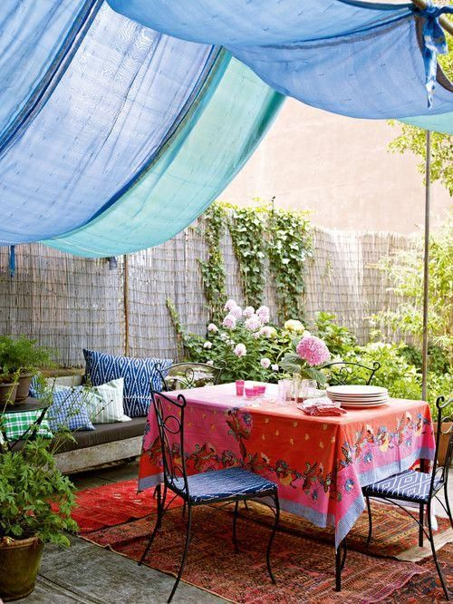 create diy shade in the garden for kids - Google Search