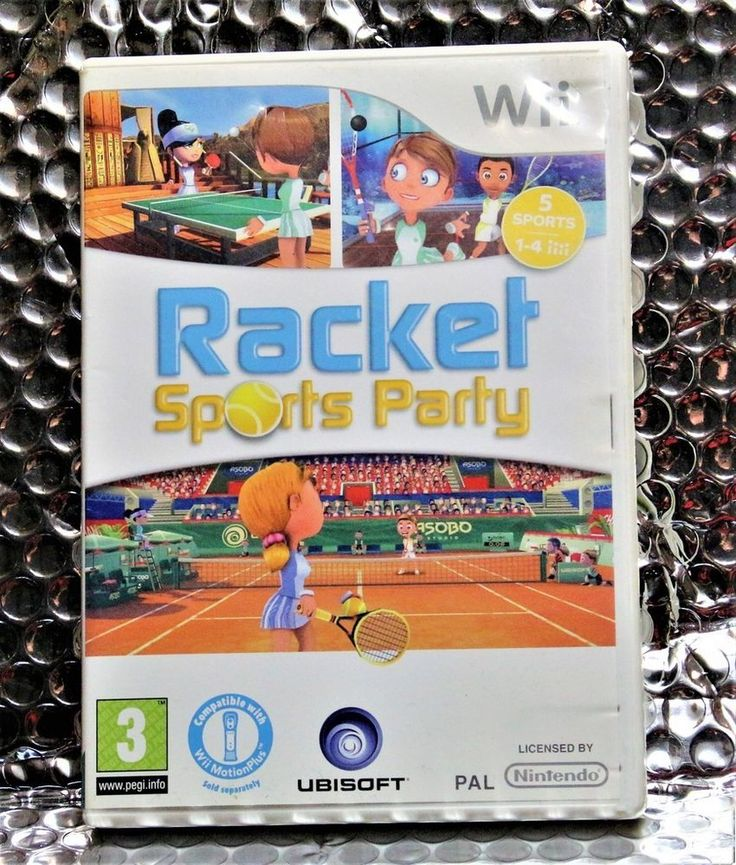 NINTENDO WII GAME RACKET SPORTS PARTY 5 SPORTS 1-4 PLAYERS PAL    WII MOTION