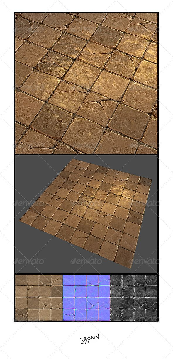 Mud Stone Floor Tile 01 ... asset, block, brick, floor, foot, game, ground, hand, low, lp, normal, painted, path, pattern, pavement, poly, road, rock, rough, seamless, stone, street, texture, tiling, udk, unity, wall, way