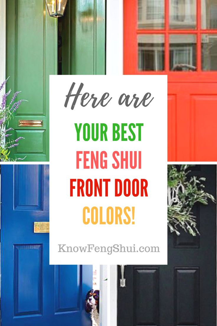Best 25 colored front doors ideas on pinterest front for Feng shui back door