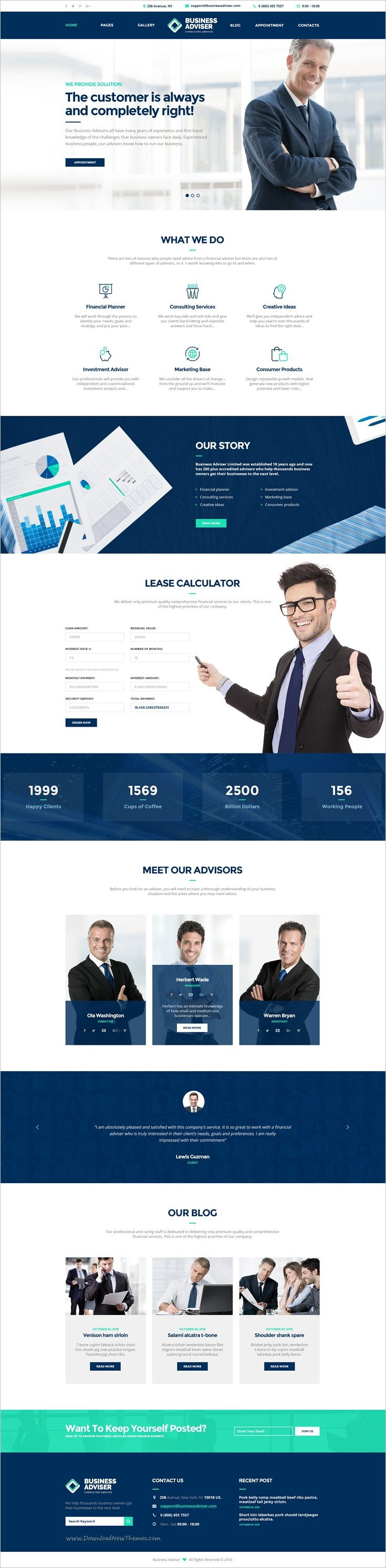 Business Adviser is a highly professional #PSD template for #webdev #business and #financial institutions or personal consultants website download now➩ https://themeforest.net/item/business-adviser-multipurpose-business-psd-template/18578695?ref=Datasata