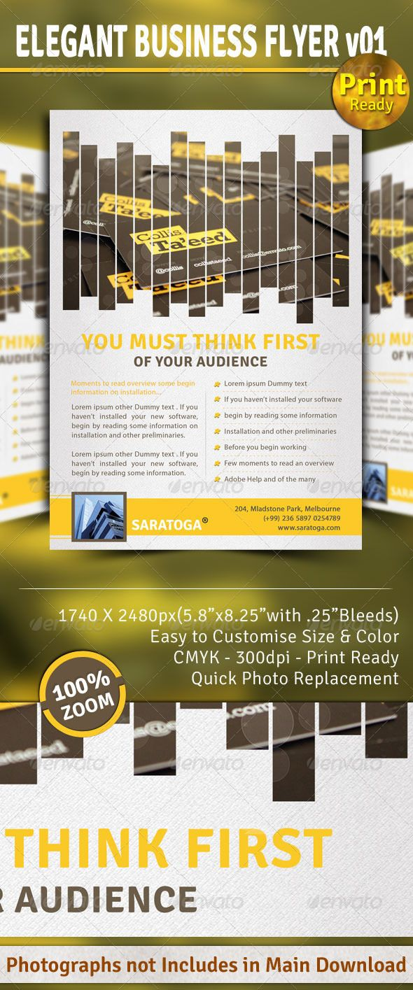 images about print templates flyer template elegant business flyer v01