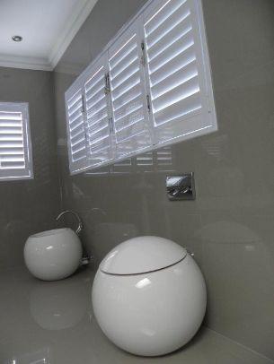 Modern bathroom shutters
