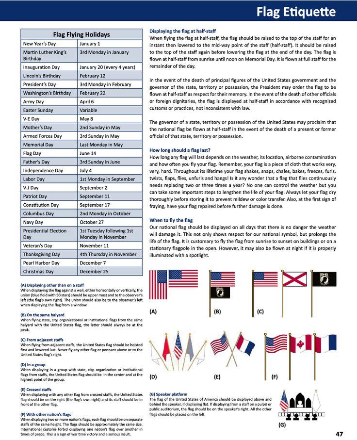 25 unique us flag etiquette ideas on pinterest american for Flag etiquette at home