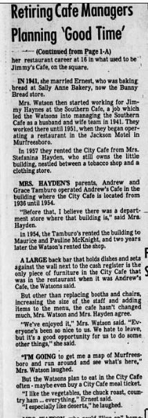 City Cafe Article p 2