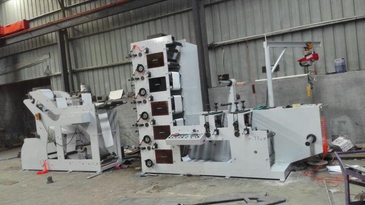 ZBRY-450 -4 Paper Label roll Flexo printing machine