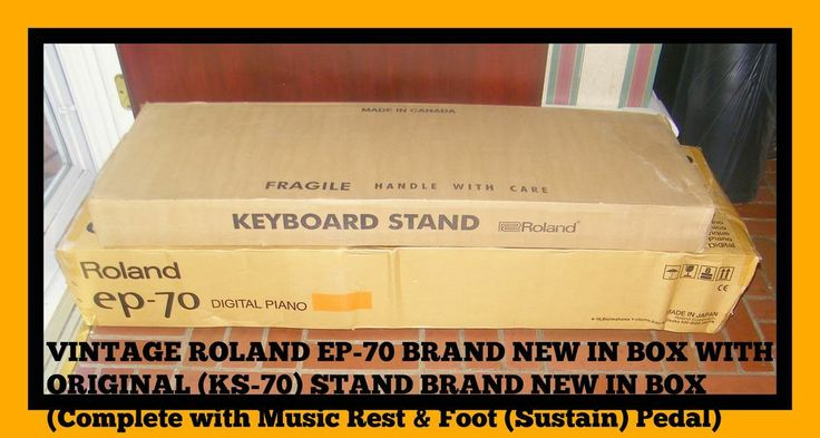 roland ep 70 digital piano brand new in box w original stand in box 76 keys roland vintage. Black Bedroom Furniture Sets. Home Design Ideas