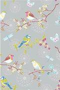 PiP Early Bird Grey Wallpaper | PiP Studio © lintutapetteja...