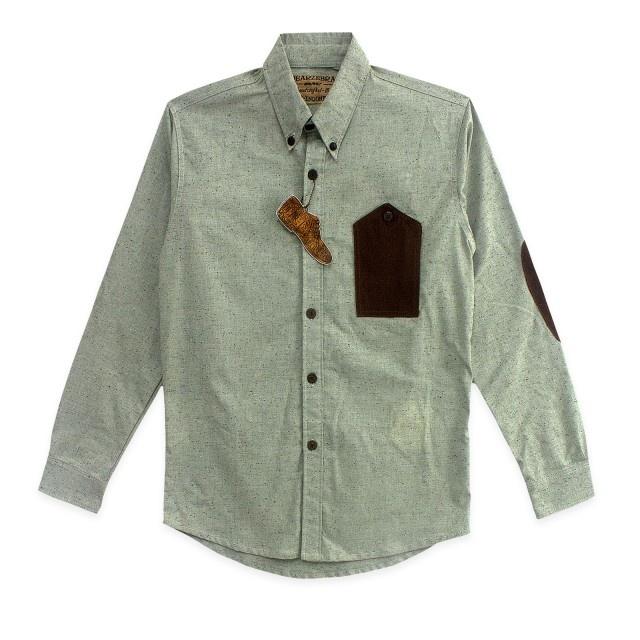 www.maskool.in - Dear Zebra Linen Grey Slubby Spot LS Shirt Rp 206.000,00