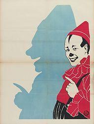 Vintage #circus poster... of #pierrot...