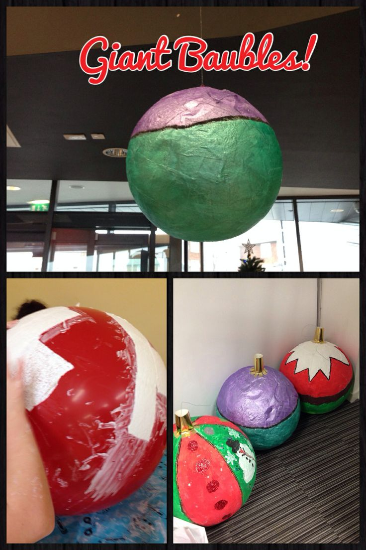 Diy giant christmas baubles could be used as an outside for Outside christmas baubles