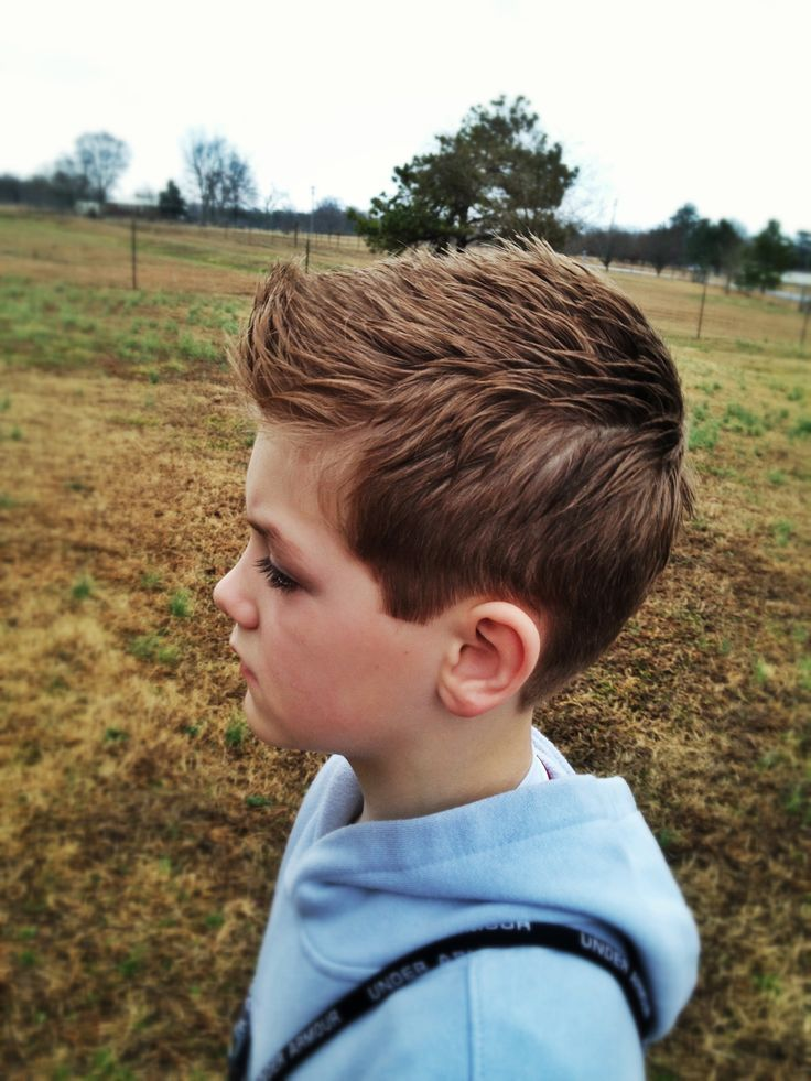 Boy haircut Top is great just would cut shorter on sides