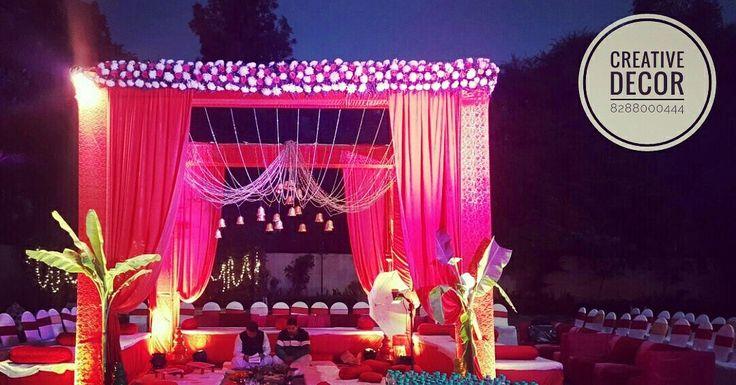 Wedding decor by Creative decor #nimantran  #Chandigarh # wedding decor #Punjabi wedding #Mandap #vedi #decor #theme