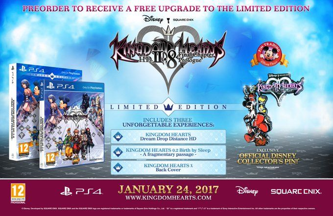 Kingdom Hearts HD 2.8 receives limited edition #Playstation4 #PS4 #Sony #videogames #playstation #gamer #games #gaming