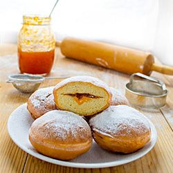 Krafne or Pokladnice are Croatian homemade doughnuts, traditionally served during Carnival time between Three Kings' Day (January 6th) and Ash Wednesday (the first day of Lent which occurs 46 days before Easter).