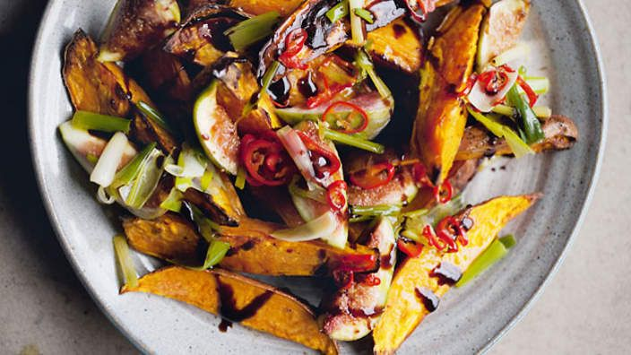 Roasted sweet potatoes and fresh figs recipe : SBS Food
