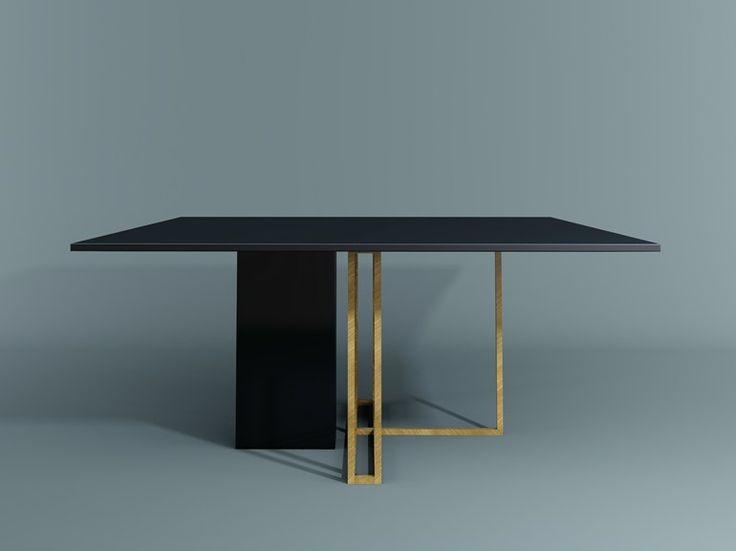 Mesa de comedor cuadrada PLINTO | Mesa cuadrada - Meridiani