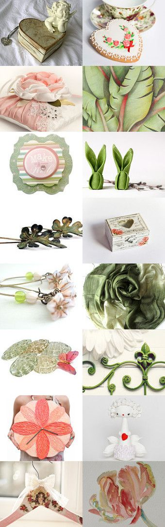 green peach by ViLoraJewelry on Etsy--Pinned with TreasuryPin.com