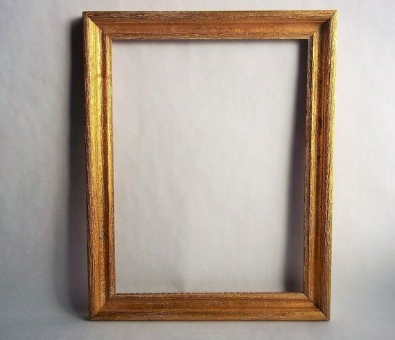 Gold Vintage Picture Frame 15 1 8 X 12 X 7 8 Grooved Texture Gold Decor Vintage Picture Frames Gold Decor Frame