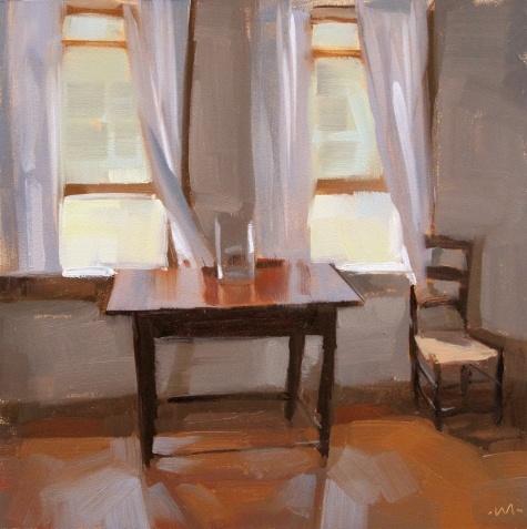 A Quiet Room, shhhhh,  painting by artist Carol Marine.