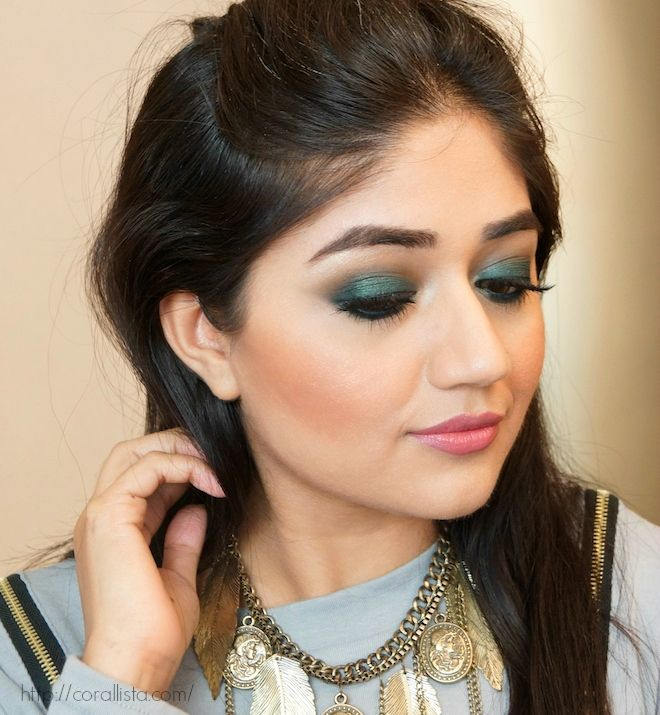 Green Smoky Eyemakeup using Makeup Geek Envy eyeshadow